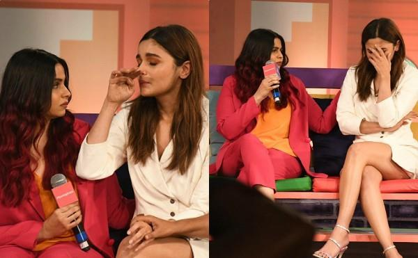 alia gets emotional at an event while speaking about sister shaheen depression