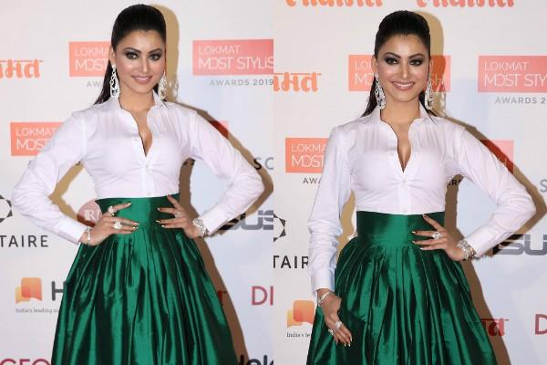 urvashi rautela spotted at aword show