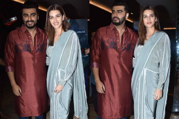 arjun kapoor and kriti sanon promotes the film