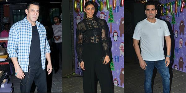 salman arbaaz and others attend arpita khan christmas party