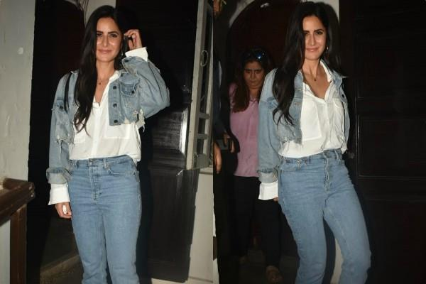 katrina kaif looks stunning in denim look