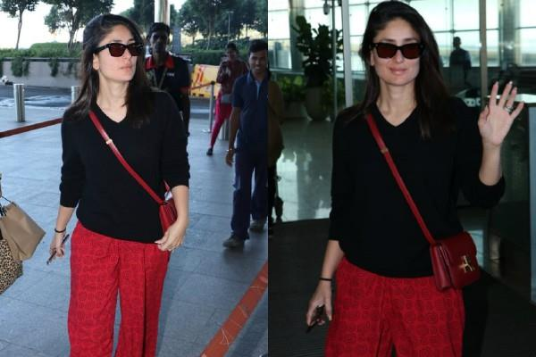 kareena kapoor stylish appearance at mumbai airport