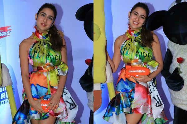 sara ali khan spotted at kids choice awards show