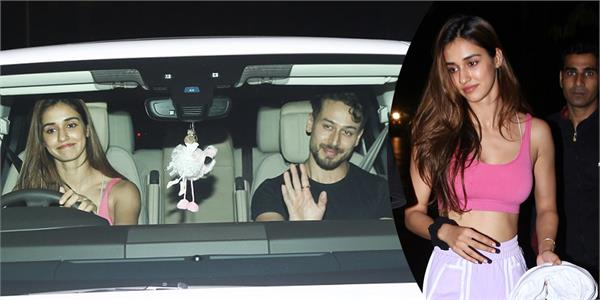 tiger shroff disha patani step out for dinner date
