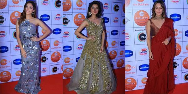 kanika mann ridhima pandit and others at zee rishtey awards show