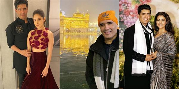 stars wishes designer on his birthday and manish malhotra visit golden temple