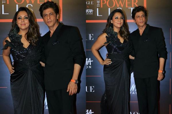 shahrukh khan gauri khan make regal couple goals at event