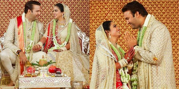 isha ambani and anand piramal first wedding anniversary photos