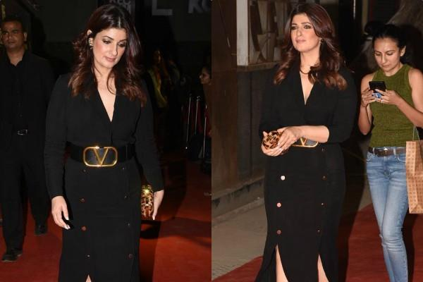 twinkle khanna spotted at launch event