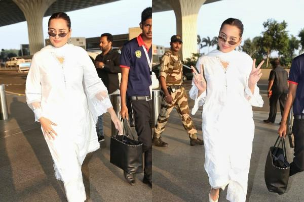 sonakshi sinha looks beautiful as she spotted at airport