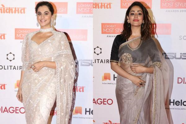 taapsee pannu and yami gautam looked gorgeous in saree