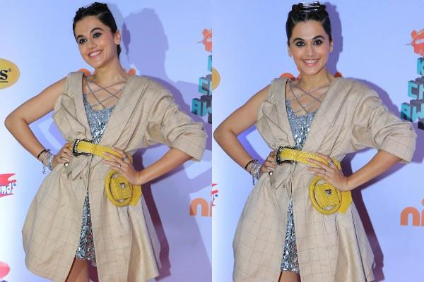 taapsee pannu spotted at kids choice awards show