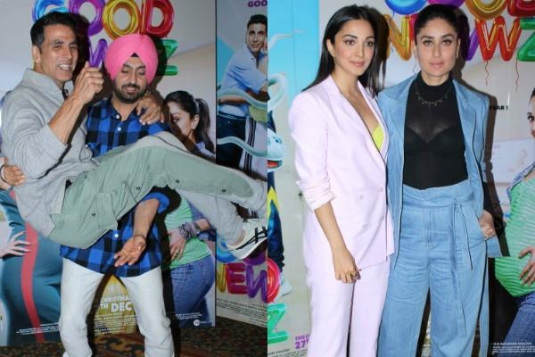 kareena kiara akshay and diljit promotes film good news