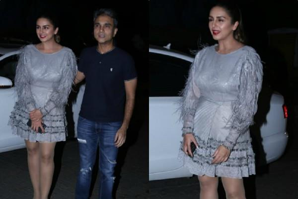 huma qureshi attend pati patni aur woh success bash with director mudassar aziz