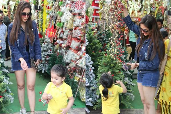 chahat khanna looked at market to christmas shopping