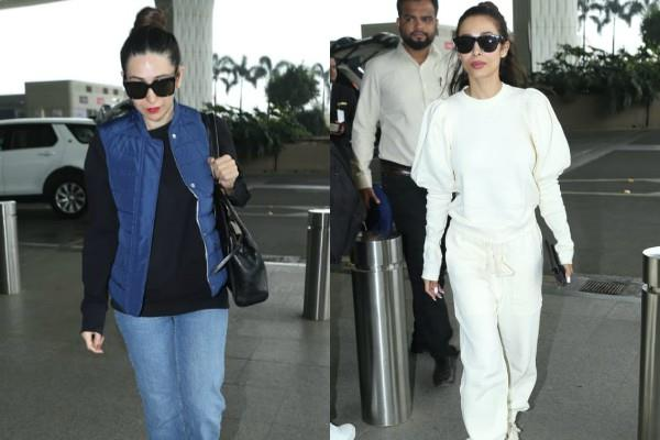 malaika arora and karishma kapoor spotted at airport