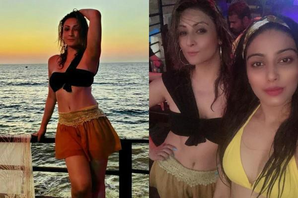 urvashi dholakia look bold in tube top and mini skirt