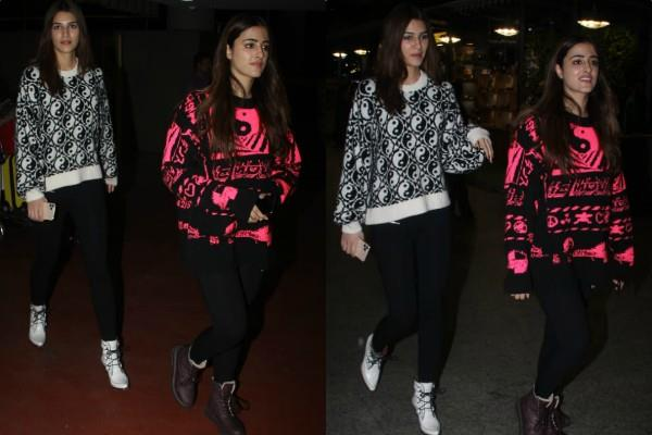 kriti sanon and nupur spotted at airport