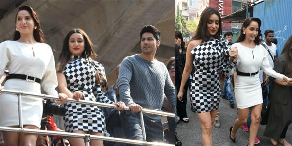 shraddha nora and varun at launch event of their film