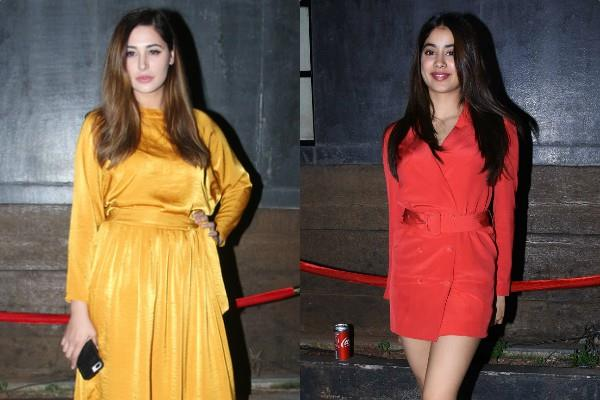 janhvi kapoor and nargis fakhri looked gorgeous