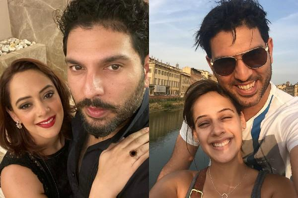 yuvraj singh shares picture with wife on wedding anniversary