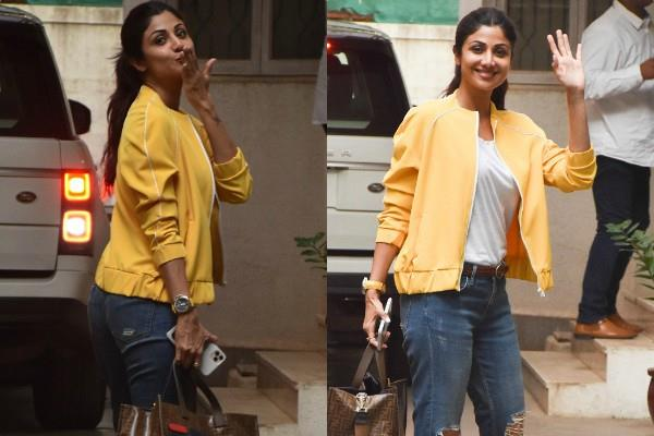 shilpa shetty spotted outside the dubbing studio