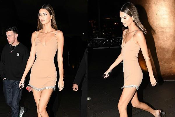 kendall jenner looks stunning in mini dress