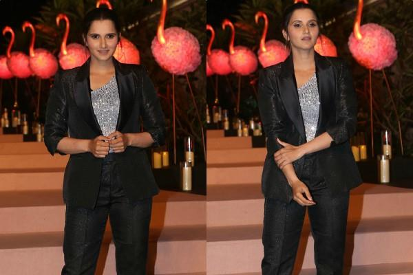 sania mirza stunning look at party