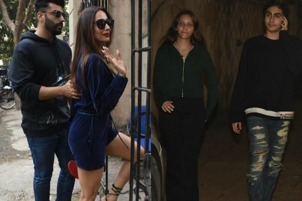 malaika arora arjun kapoor stylish appearance at christmas celebration