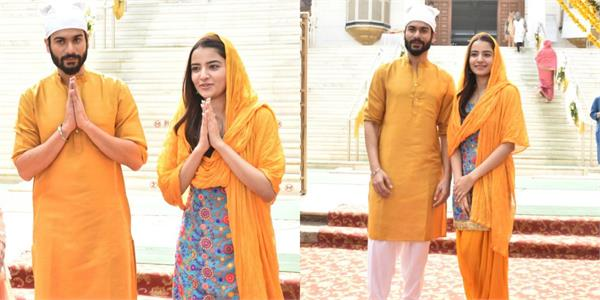 sunny kaushal and rukshar dhillon during promotion of film