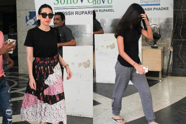 karishma kapoor spotted at clinic with her daughter