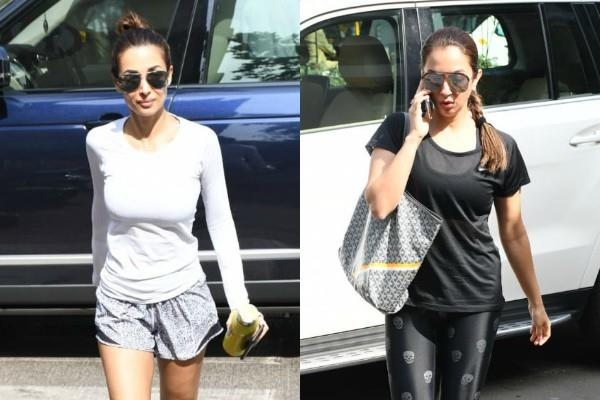 malaika arora and seema khan spotted outside the yoga class