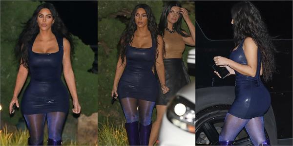 kim kardashian flaunts killer figure in skinfit outfit