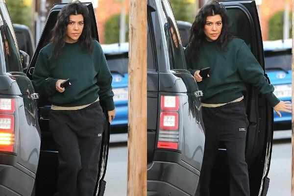 kourtney kardashian spotted at milk studios in la