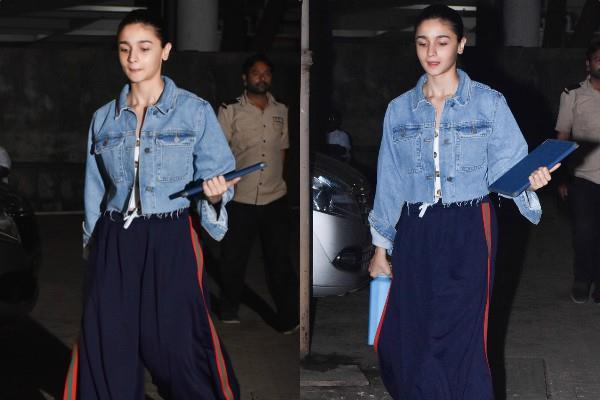 alia bhatt spotted outside the office at juhu