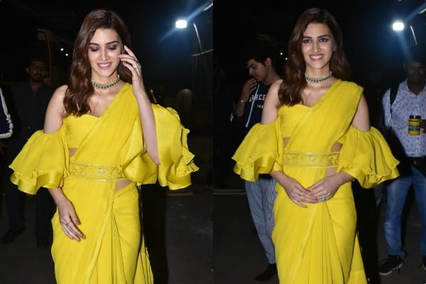 kriti sanon during film promotion of panipat