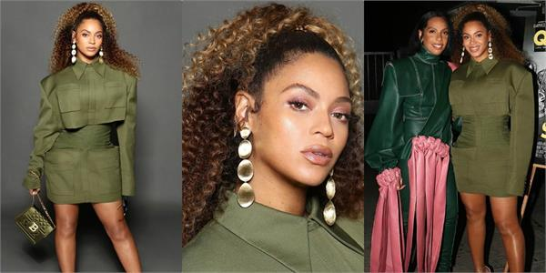 pop singer beyonce look stunning in mini dress