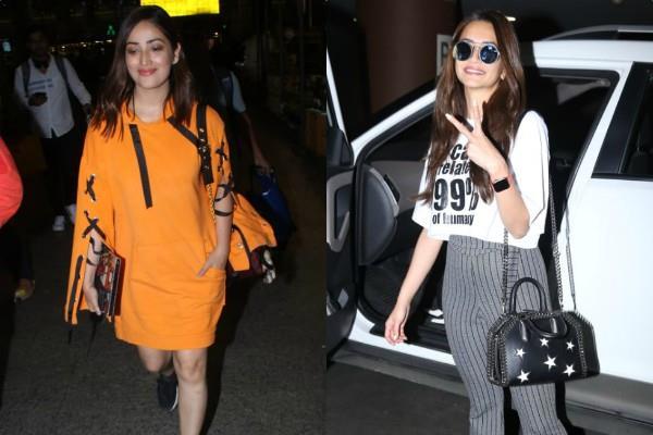 kriti kharbanda and yami gautam spotted at airport