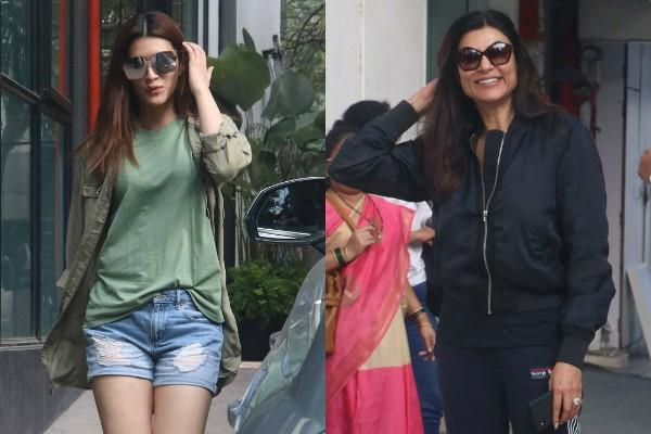 sushmita sen and kriti sanon looked stunning