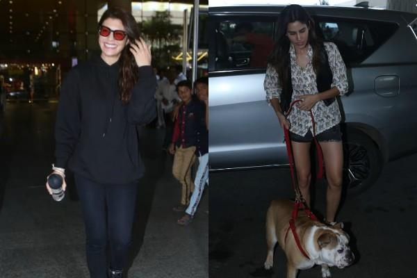 jacqueline and sonali sehgal spotted at airport