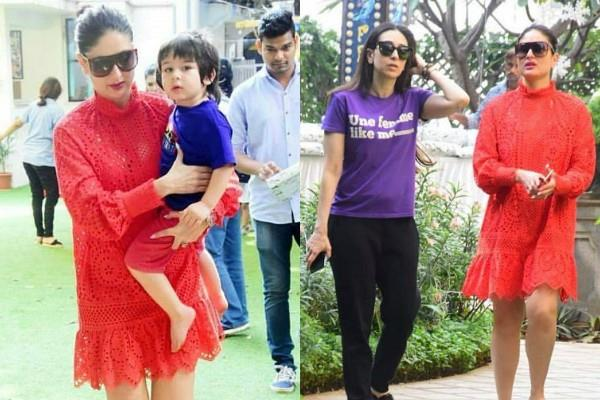 kareena and karisma kapoor spotted at taimur birthday party location mount mary
