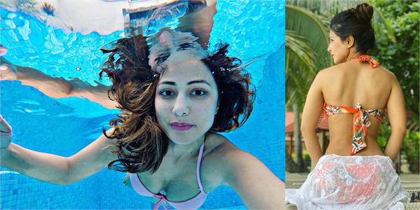 hina khan enjoy holiday with boyfriend in maldives