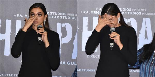 deepika padukone wept during trailer launch