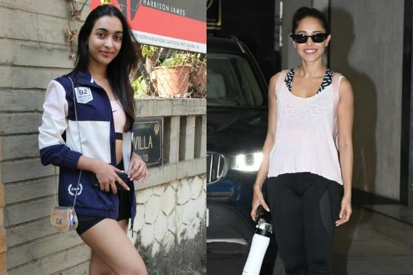 amrin qureshi and nushrat bharucha spotted outside the gym