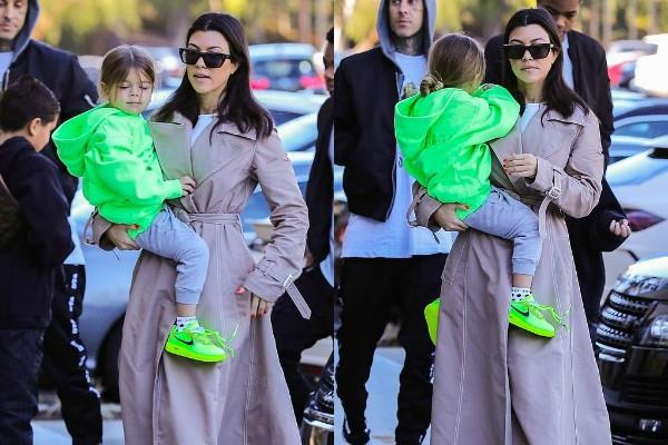 kourtney kardashian outing with her kids mason and reign