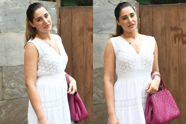 nargis fakhri spotted at bandra