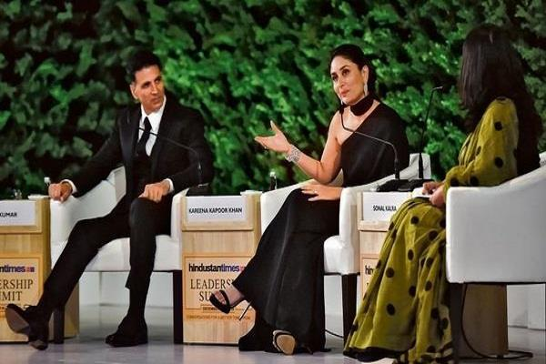 akshay kumar and kareena kapoor spotted at hindustan times leadership summit