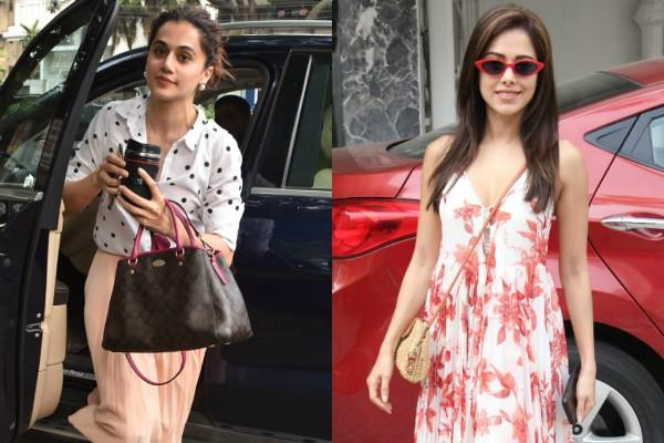 taapsee pannu and nushrat bharucha spotted at bandra
