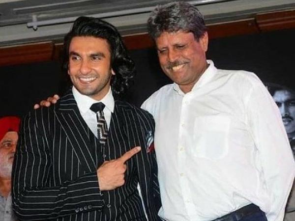 ranveer singh taking training for cricket movie 84
