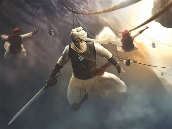 ajay devgan first look out from film taanaji the unsung warrior